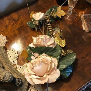 Vintage Silk Flower Swag